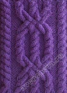 棒针编织花样之链条交叉麻花