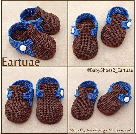 带搭扣钩针宝宝鞋详细过程 宝宝毛线鞋编织教程