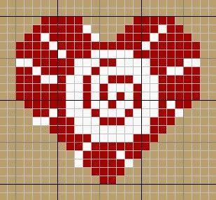 提花图案之心形花样