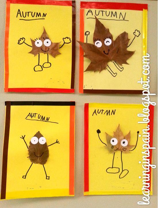树叶粘贴画图片大全秋天-树叶的3种 玩法 树叶画亲子DIY幼儿园手工