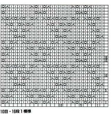 棒针镂空花——菱形8