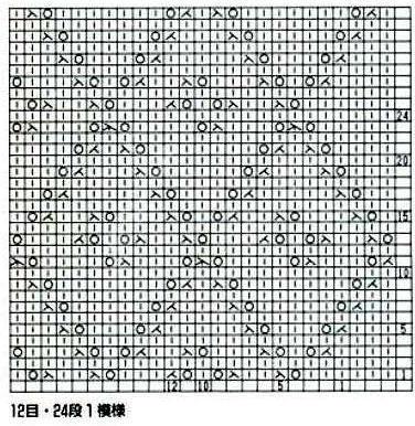 棒针镂空花——菱形9
