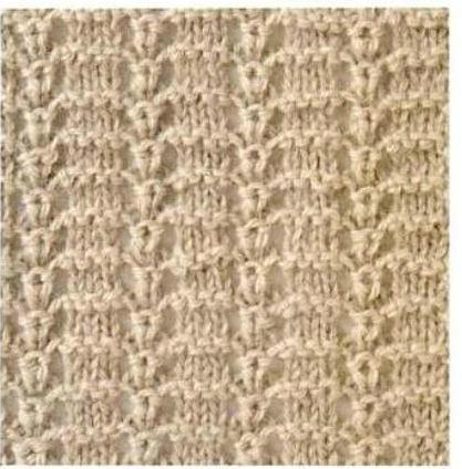 棒针编织的镂空长针花样