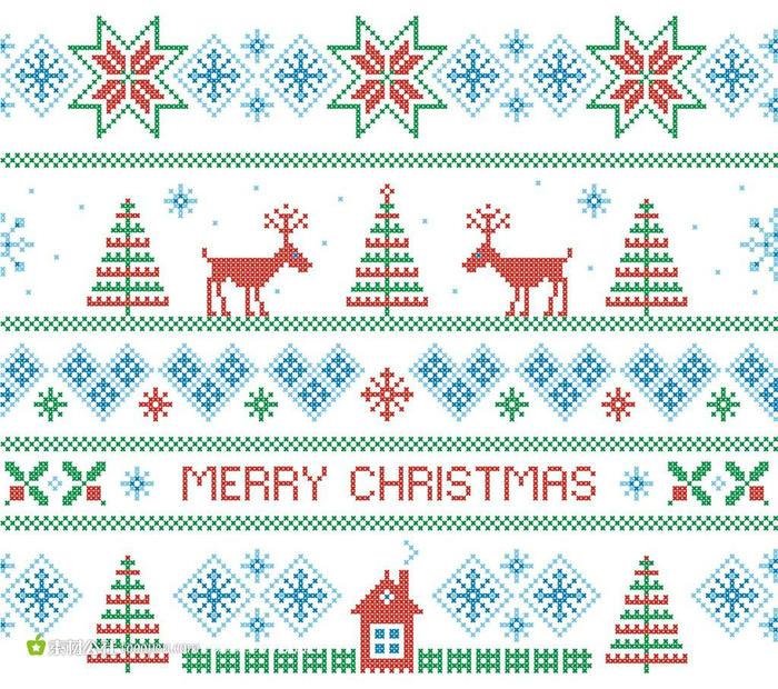 圣诞节编织 多彩圣诞提花编织-编织花样-编织人生