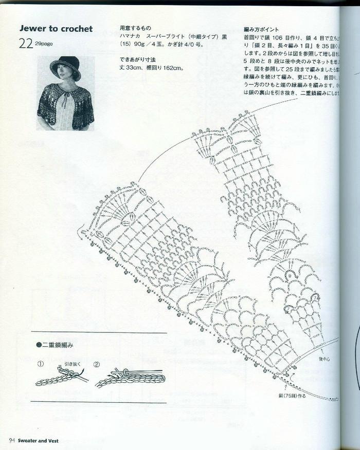 钩针编织蕾丝镂空披肩