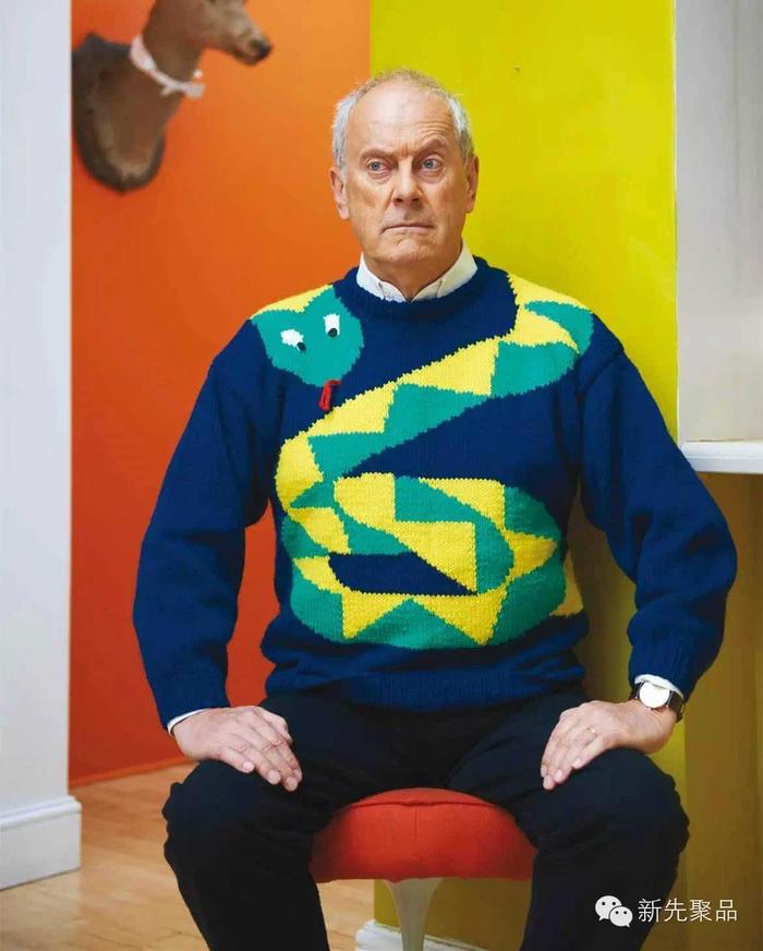 整体大范围图案男士毛衣,减龄利器