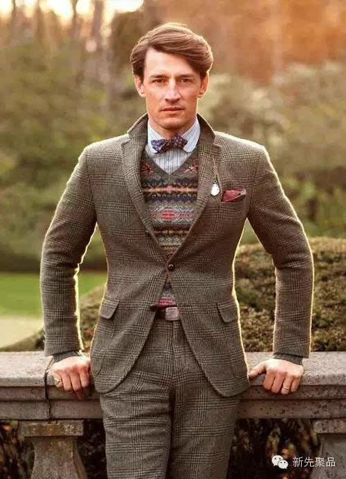 费尔岛图案款男士毛衣 可以很绅士也可以很潮