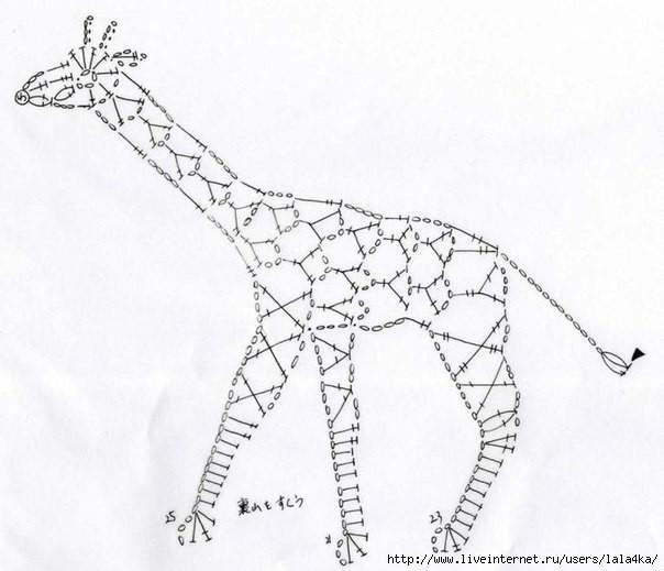钩针编织长颈鹿花样