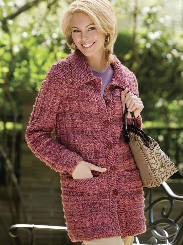 简洁大方的棒针女士毛衣
