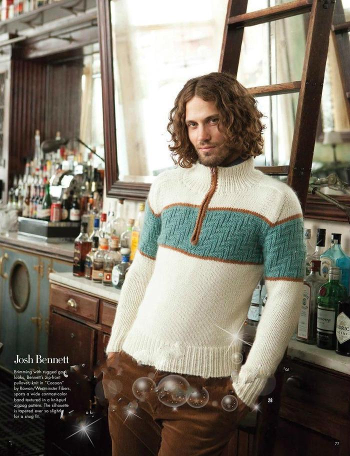 男士麻花经典毛衣款式
