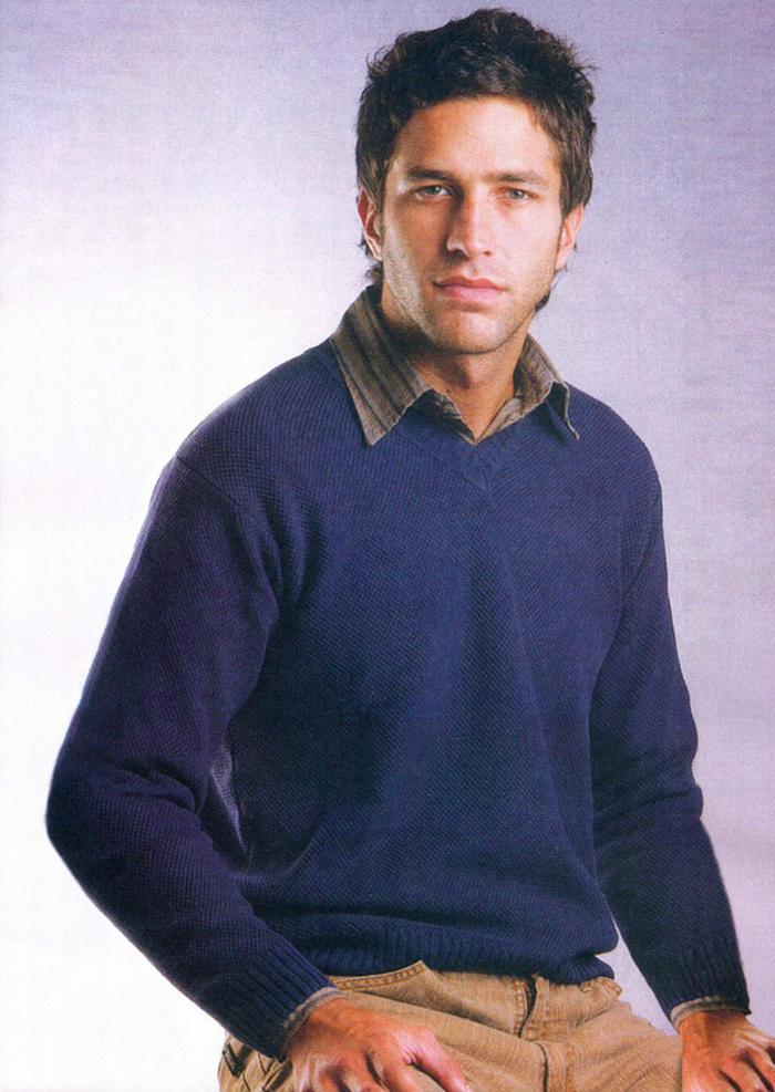 男士棒针毛衣款式欣赏
