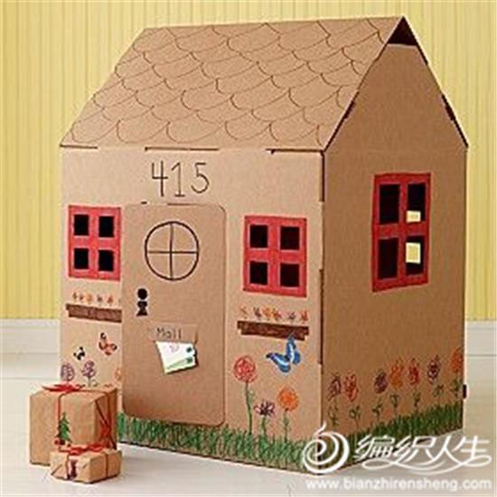 瓦楞纸箱手工diy打造儿童天地(房屋用品篇)