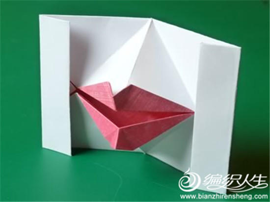 趣味动态立体嘴唇折纸 情人节手工礼物