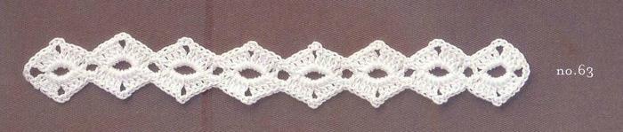 女士钩针菱形花样花边-编织花样-编织人生