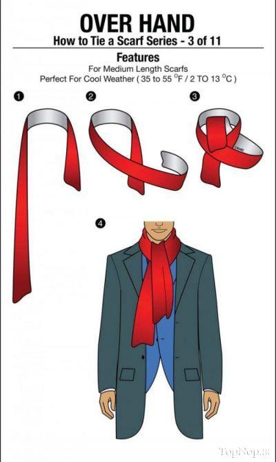 超贴心男士围巾系法图解3