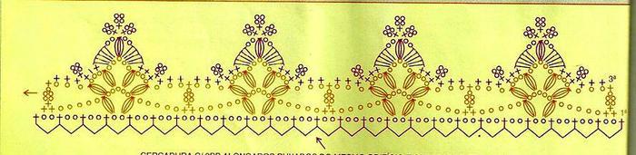 钩针蕾丝双色三角形花边