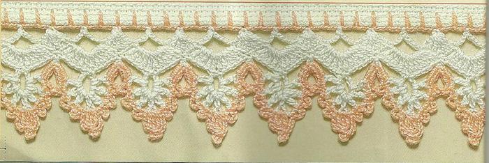 钩针双色蕾丝葡萄形花边-编织花样-编织人生