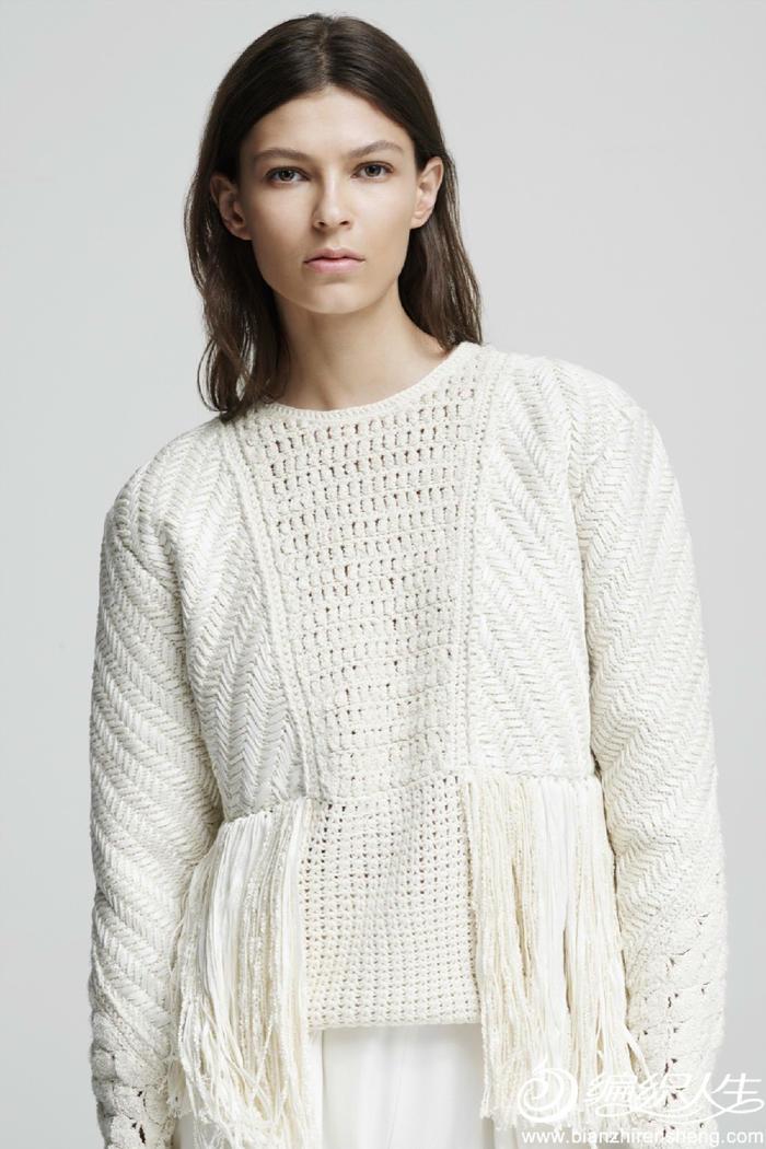 女士套头毛衣款式_春夏新款女士毛衣款式26款 时装周2016度假系列米色白色驼色毛衣 ...