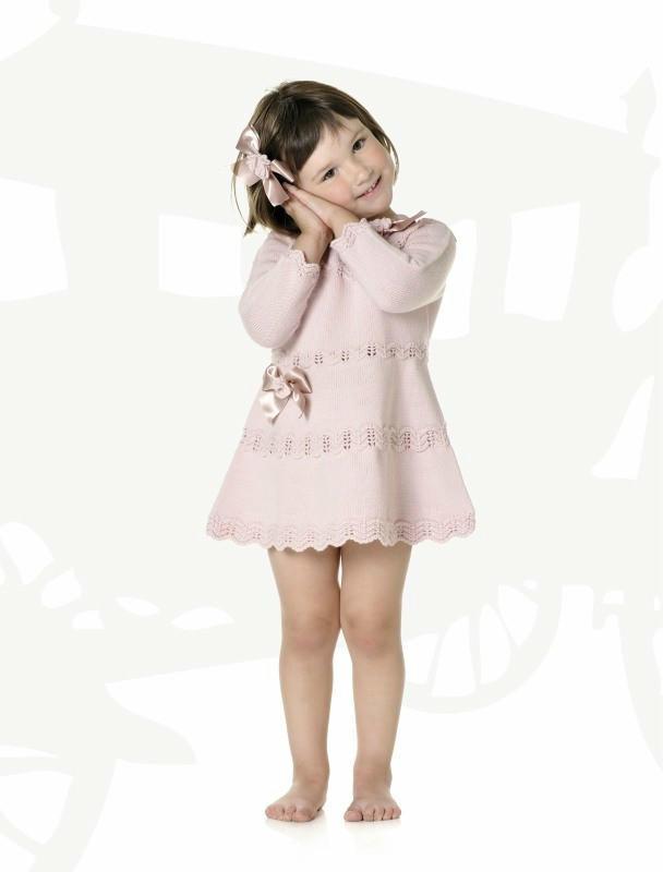 多款女童棒针连衣裙