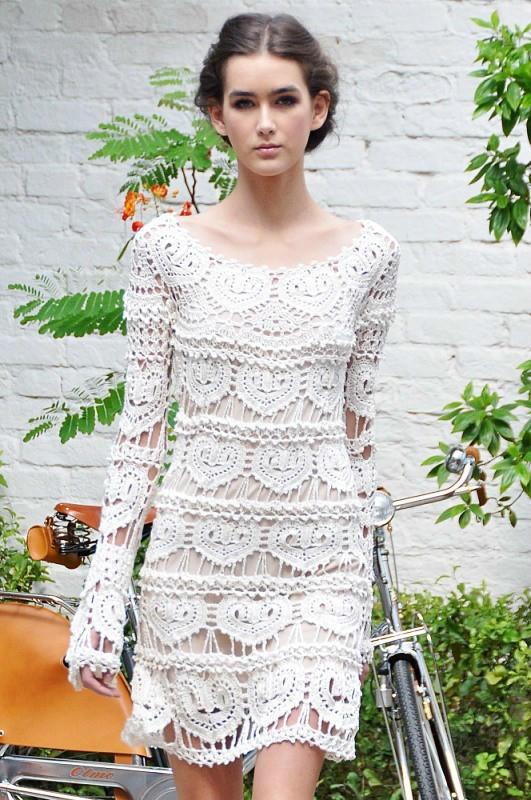 女士钩针长裙(仙女裙)