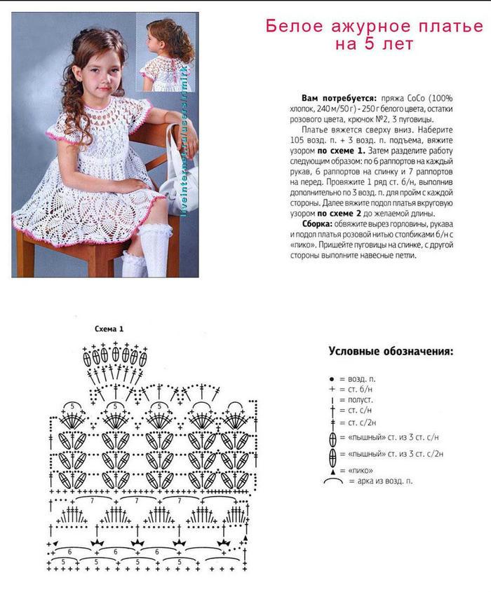 女童钩针蕾丝圆肩菠萝花连衣裙(礼服裙)