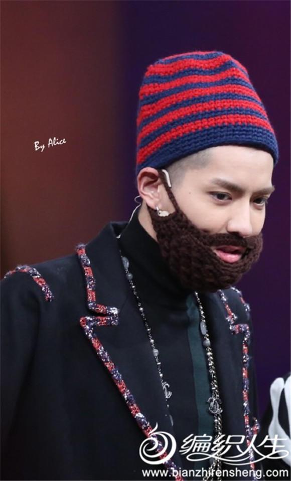 吴亦凡毛线帽与胡子