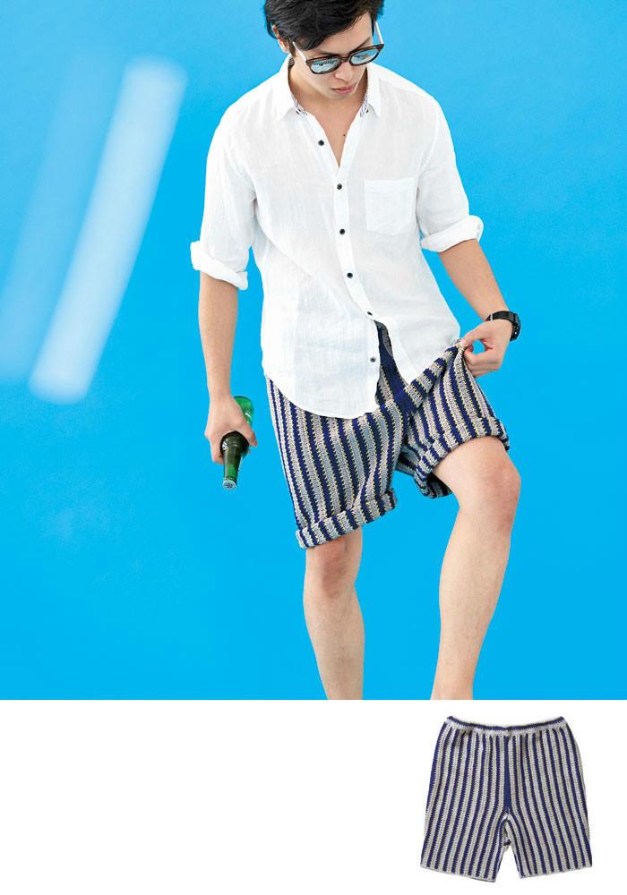 钩针男士短裤