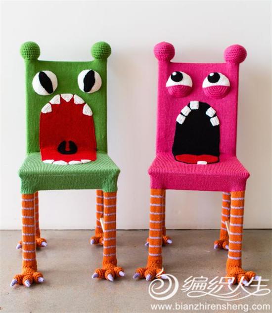 创意毛线椅子装饰
