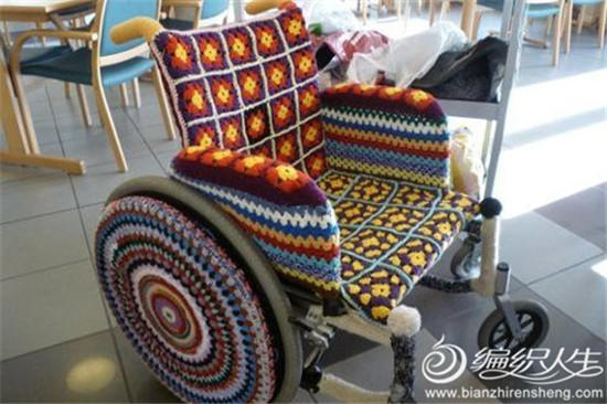 毛线创意轮椅套