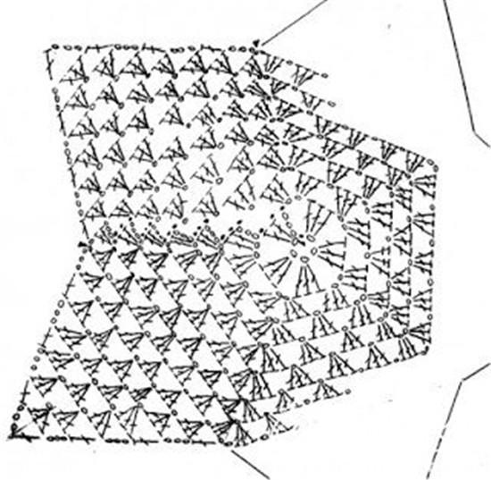 钩针五角星图解