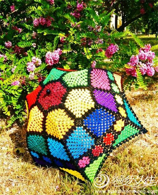 你要成为今夏街头移动的风景吗?来一款精致浪漫手工编织创意手工伞