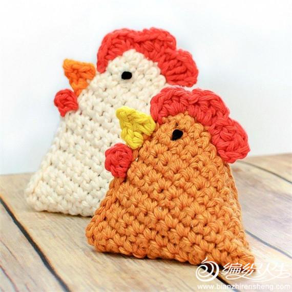 毛线编织公鸡