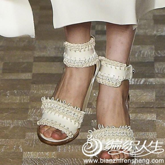 鞋子钩编装饰