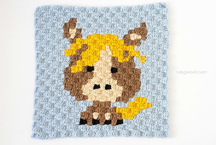 钩针卡通十二生肖配色图案(下)可用于U乐娱乐youle88配色斜纹毛毯