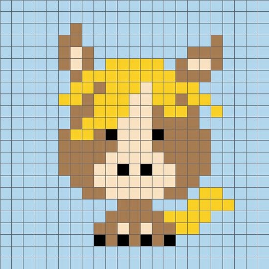 毛衣编织图案十二生肖马
