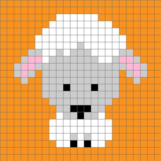 十二生肖羊配色图案