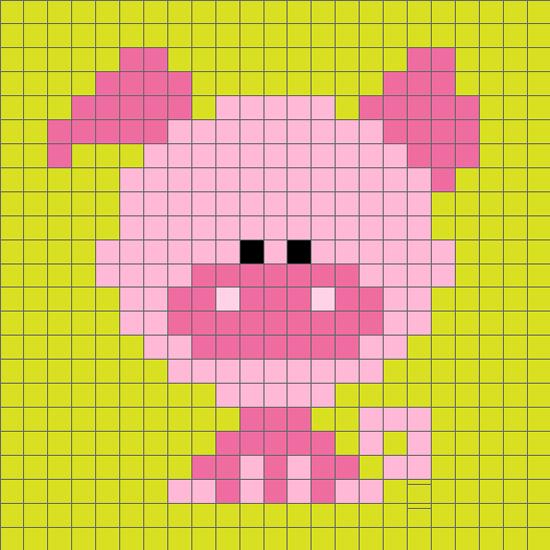 十二生肖猪毛衣图案