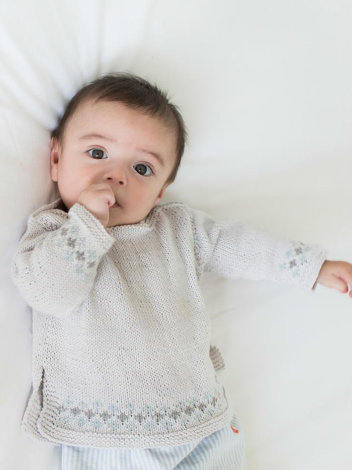 Unisex boatneck sweater男女宝宝都适合的棒针肩开扣套头毛衣