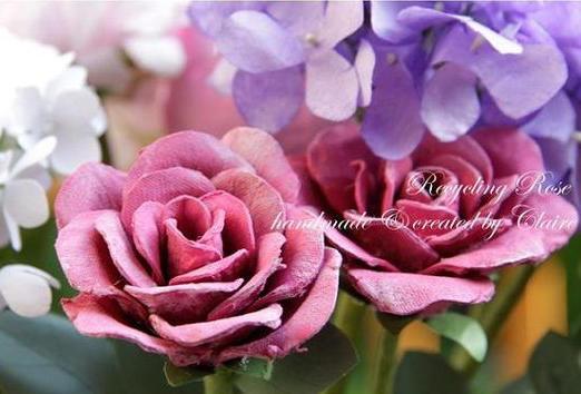 用diy唯美玫瑰花
