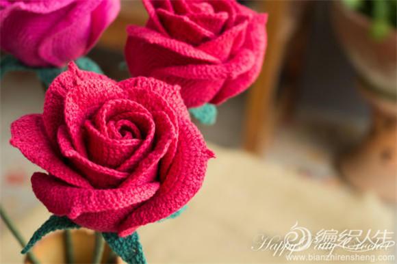 精品花卉编织玫瑰