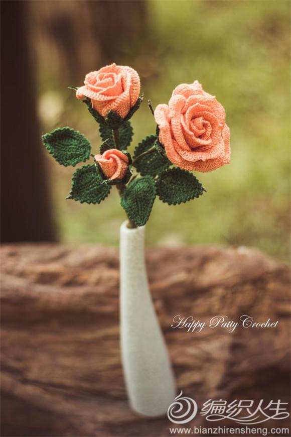 手工编织玫瑰