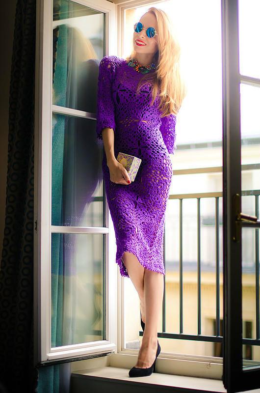 五彩缤纷的夏天——各种颜色的钩针美裙欣赏