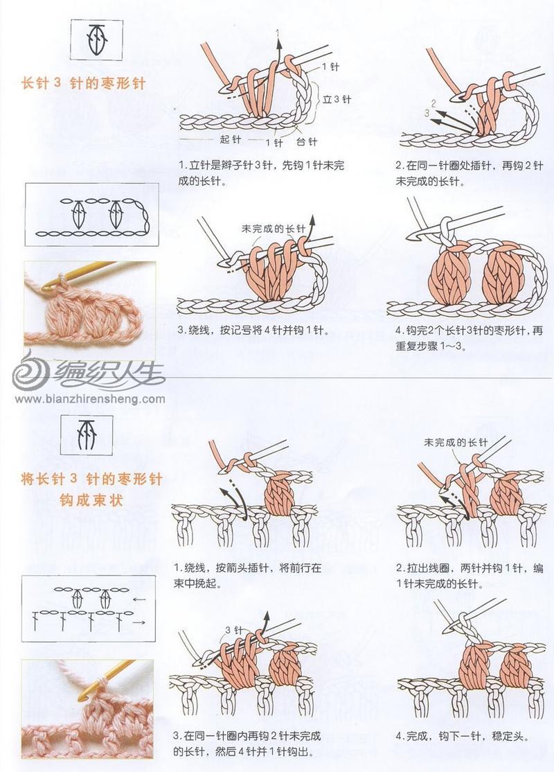 钩针枣形针