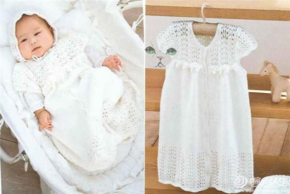 婴儿棒针睡衣