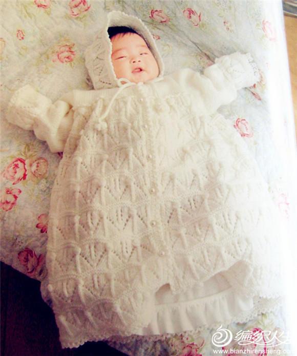 宝宝棒针睡裙