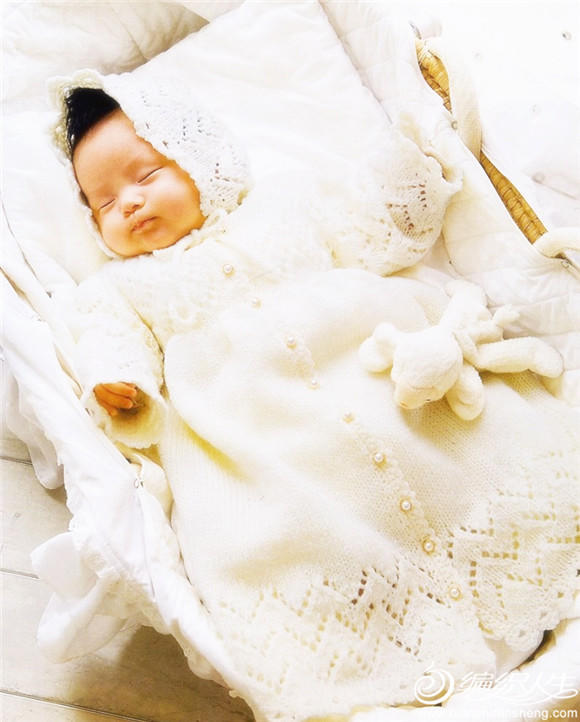 婴儿棒针毛衣