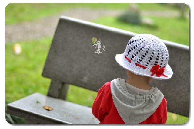 儿童钩针遮阳帽