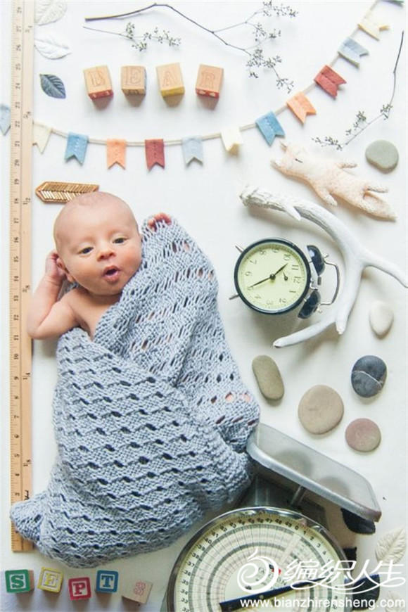 宝宝棒针毯