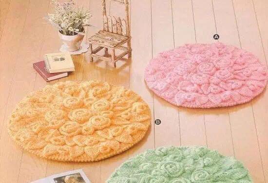 手工旧毛线编织地毯,编织出你的生活艺术-编织人生