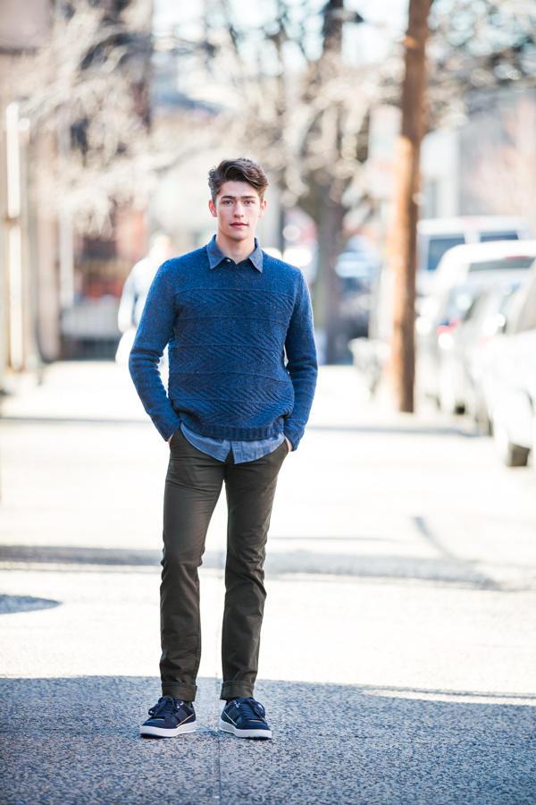 男士针织背心花样_10款BT布鲁克林粗花呢男士毛衣设计-编织人生